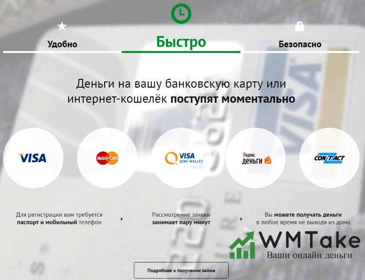 Получение кредита на QIWI кошелек онлайн на platiza.ru