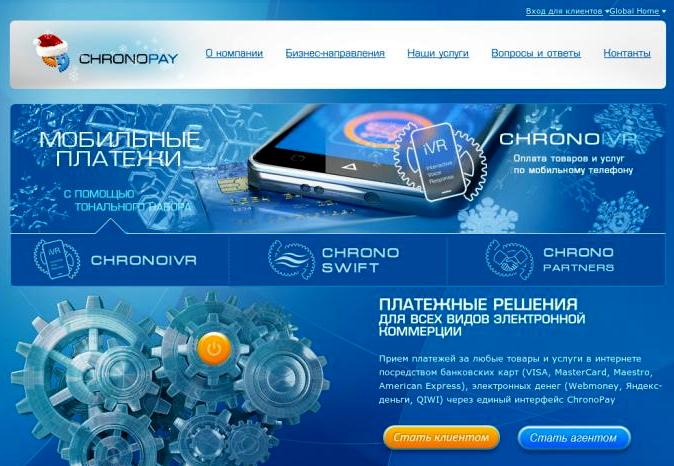 Сайт ChronoPay