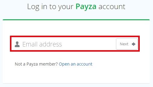 Ввод адреса электронной почты