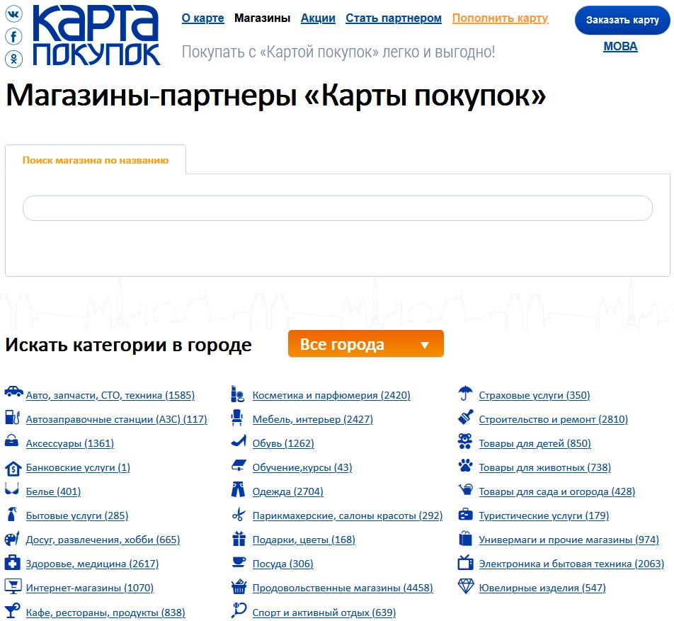 список партнеров банка